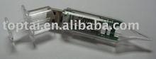 plastic medical syringe usb flash drive from gift usb factory