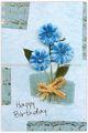 Flor de papel de la tarjeta de felicitación de cumpleaños, Tarjeta de regalo