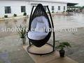 nuevo al aire libre muebles de mimbre swing hamaca ak3013