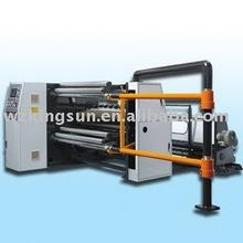 High speed plastic film turret slitter rewinder machine for BOPP or PET Film (film slitting machine, slitting rewinding machine)