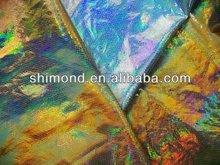 Metallic Laser Effect PU Leather for Fashion Bag & Purse