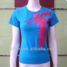 Printing cotton women t-shirt 2013