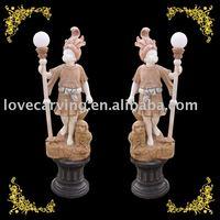 Stone Carving children light statue