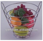 Tall chrome plated fruit basket(with handle)