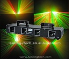 4 Lens Red+Green DMX Show DJ Disco Laser Stage Light Xmas Party Lighting