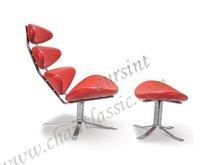 de color rojo de cuero silla corona y onntman