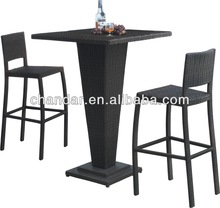 hot rattan bar table and barstool patio furniture