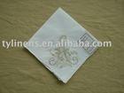 Initial machine embroidery ladies cotton handkerchief