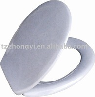 lightgrey Duroplast Toilet Seat cover BSCI factory TUV