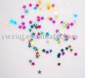 decorativa colorida glitter floco estrela