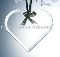 2014 fashion heart shape glass ornament for decoration