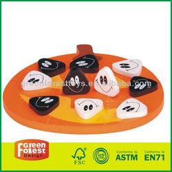 "Tic Tac Toe ""Jack-O-Lantern"" Wooden Game"