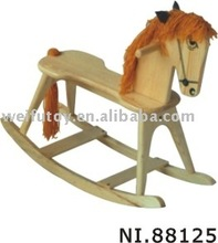 Cheap wooden rocking horse toy