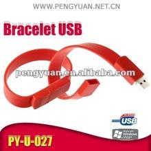 Hot Sale Bracelet Wrist Hand usb flash drive, USB2.0. PY-U-027