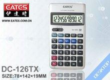 12 digits pocket sized calculator with tax keys