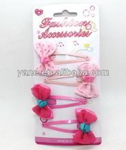 2015 latest hair clip with bow flower, bow hair clip