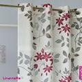 Burnout fenêtre rideaux avec l'impression design moderne, ready made rideaux salon tissu burnout
