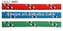 Hollow braided rope/diamond rope