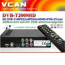 Car hd digital dvb-t receiver 2 tuner mpeg4 TDT TNT/DVB-2009HD