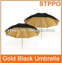 Photo Studio Umbrella Gold Black Reflective Flash Umbrella