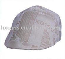 Fashion leather men beret cap