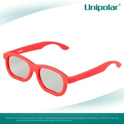 Recyclable plastic circular polarized 3D Glasses