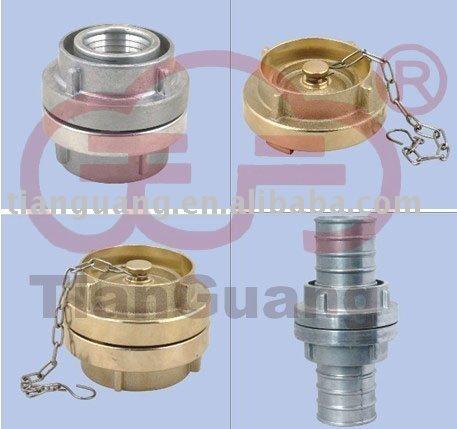 Accouplement de tuyau d'incendie (raccord de durites en laiton, accouplement en aluminium, accouplement de storz)