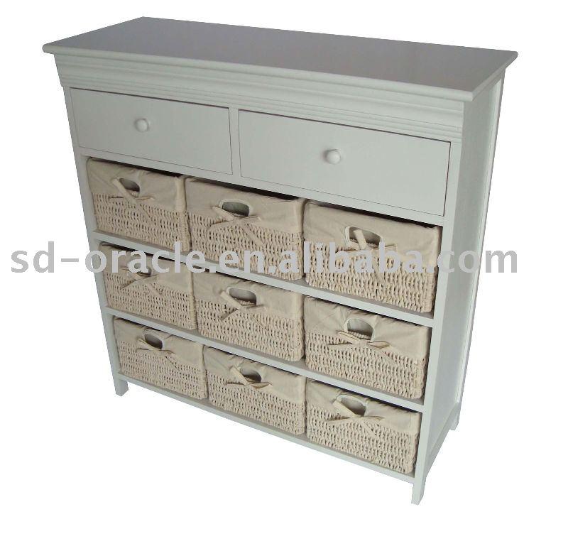 Meubles de maison osier meubles en rotin coffret en - Meuble rangement panier osier ...