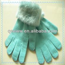 fashion women acrylic dress gloves wool loop wrist ladies' magic gloves