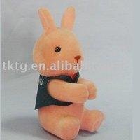 Plastic Rabbit Clip with flocking