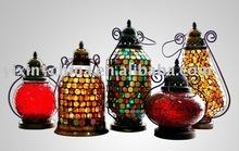 Mosaic Glass Lamp/ Lantern/ Candle Holder