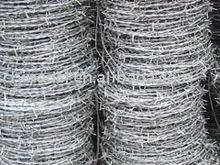 galvanized single strand barbed wire