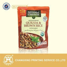 Plastic doypack retort packaging bag for brown rice/aluminun foil food retort bag