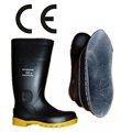 pvc preto de mineração de segurança botas de trabalho