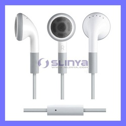stereo earphone for iphone earphone with Mic For iPhone 5 4 3GS iPod iPad