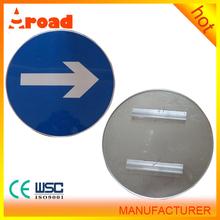 Reflective aluminium traffic road signs