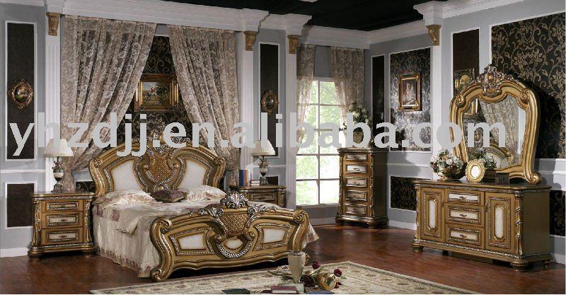 muebles para el hogar europeo de lujo clásico juego de dormitorio 016