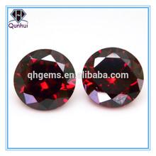 Round shaped cubic zirconia garnet gemstone