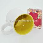 sublimation white mug with colour inside subliamtion printed mugs yiwu factory