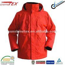 Hot!!!2012 Men's winter nylon ski jacket with conceal hood