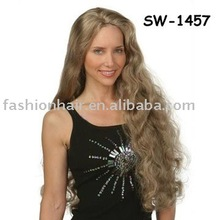 2013 popular high quality 100% best factory price silky straight kanekalon synthetic curly wigs (SW-1457)