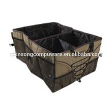 Large main compartment foldable car trunk organizer box
