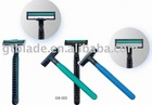 STAINLESS STEEL RUBBE HANDLE DISPOSABLE TRIPLE BLADE RAZOR