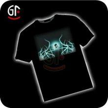New Popular Black Led Glow T-Shirt
