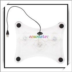 USB Blue LED Cooler Pad 3 Fan -NTB01
