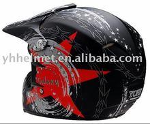 ECE and DOT approved fibergalss cross helmet 608-Matt