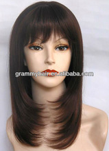 china new fashion black layers style synthetic kanekalon short wigs for black women