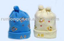 baby's plain pom pom knitted beanie hat