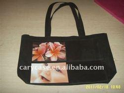 PVC photo inserting non woven shopping bag