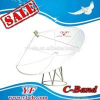 C band offset mesh satellite dish antenna